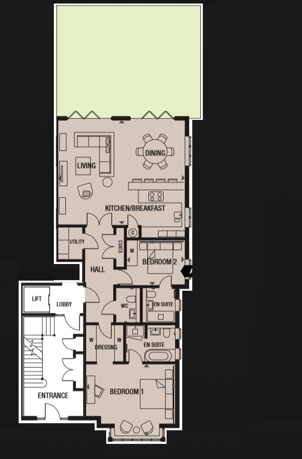 Plot 2 Ground Floor 2 Bedroom Apartment