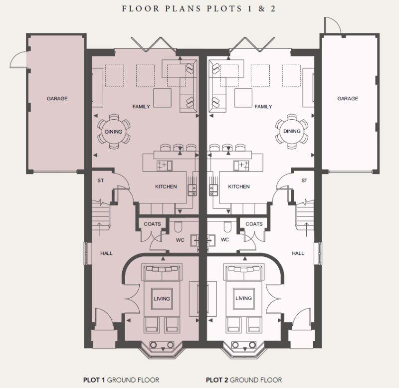 Ground Floor - Plots 1 and 2