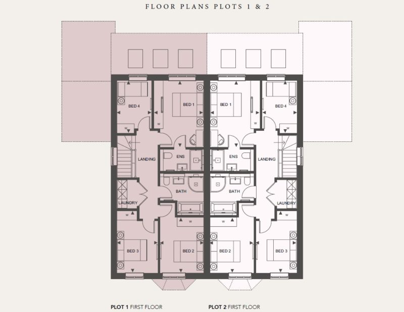 First Floor - Plots 1 and 2