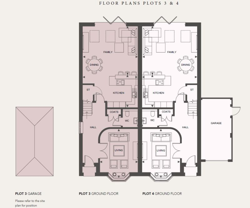 Ground Floor - Plots 3 and 4