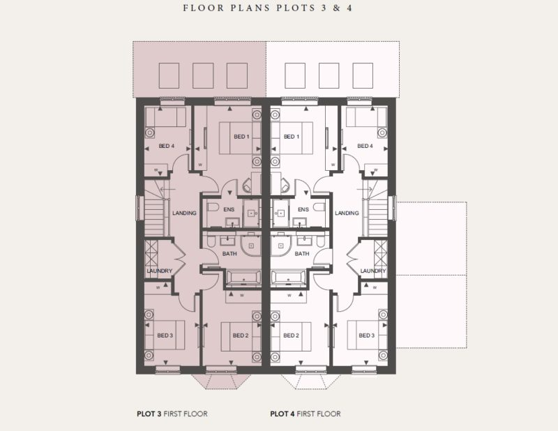 First Floor - Plots 3 and 4